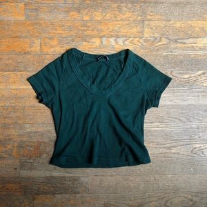Brandy Melville Green Crop Top